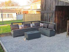 Pallet garden sofa #Garden, #Lounge, #Pallets, #Sofa