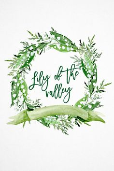 Lily of the Valley Watercolor Clipart, White flowers Wreath Watercolor Clipart, Greenery Wreath Watercolor Clipart, Greenery Wedding Wreath Watercolor, Watercolor Leaves, Watercolor Background, Watercolor Art, Wreath Tattoo, Greenery Wreath, Flower Wreaths, Lily Of The Valley Flowers, Wreath Drawing