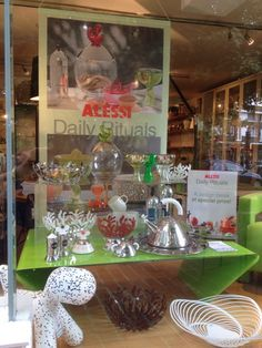 Our current window display (as of 12.06.14) featuring lots of Alessi products. If you'd like anymore information or prices please do call us on 01992 573929 or email sales@geoffreydrayton.com