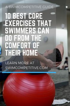 At Home Core Workout, Best Core Workouts, Spin Bike Workouts, Core Exercises, Swimming Times, Keep Swimming, Swimming Workouts, Water Workouts, Swimming Sport