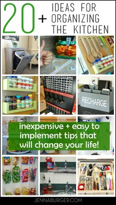 20+ Kitchen Organizing Ideas: Tips that will Change Your Life | Jenna Burger