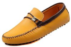 JiYe Men's Driving Shoes Leather Slip-On Loafer,Yellow,8.5 M US - http://all-shoes-online.com/jiye/jiye-mens-driving-shoes-leather-slip-on-loafer-8-5-m