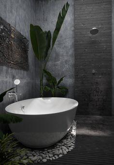 Tropicam bathroom - 2020 World Travel Populler Travel Country Dream Home Design, Home Interior Design, House Design, Contemporary Bathroom Designs, Bathroom Design Luxury, Outdoor Bathrooms, Dream Bathrooms, Natural Bathroom, Bathroom Styling