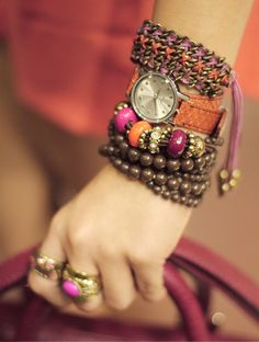 Dare to wear watches with colored bands to add to your arm party this season!