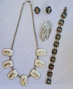 Vintage Lot of Sterling SIlver 925 Siam Enamelled Jewelry by 18sweetpea, $70.00