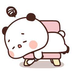 Cute Cartoon Pictures, Cute Love Cartoons, Cute Images, Little Panda, Cartoon Stickers, Couple Wallpaper, Panda Bear, Cute Art, Hello Kitty