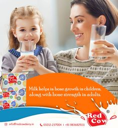 Milk helps in bone growth in children along with bone strength in adults. To order Red Cow Dairy Milk Call: 9836825111 Bone Strength, Cow, Dairy, Milk, India, Children, Boys, Kids, Sons