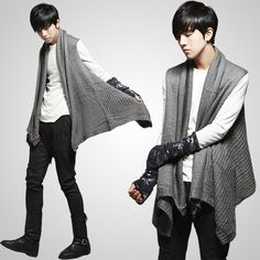 Men's fashion that resemble the modern chiton is tough to find but they do have somethings that still have the chiton influence.. like this long sweater.