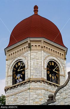 Clock Tower At Williams College Williamstown Ma Usa Stock Photo ...