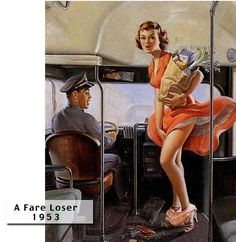 Pin Up Girls of the 40 and 50   ... the ankles of shocked 50′s pin-up models… the notorious Art Frahm