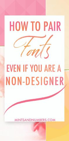 Lear how to create beautiful font combinations using tried and tested tips and tricks. You don't need to be a designer to create font pairings that leave a lasting impression on your readers. Graphic Design Tips, Blog Design, Interface Web, Create Font, Font Pairings, Font Combinations, Cool Fonts, Fun Fonts, Cricut Fonts