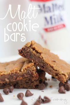 Malt Cookie Bars! These are absolutely amazing!