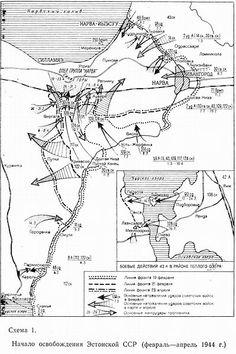 Soviet map of Estonian Operation, 1944