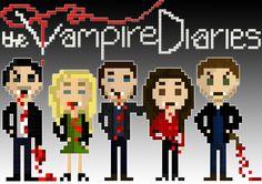 The vampire diaries 8 bit design
