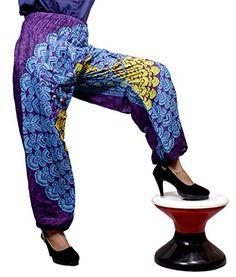 Yoga India, Harem Pants, Trousers, Floral Pants, Hippie Gypsy, Cotton Pants, Krishna, Chakra, Elastic Waist