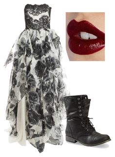 Dirty Little Secret by squidney1027 on Polyvore featuring polyvore, fashion, style, Notte by Marchesa, Charlotte Tilbury and clothing