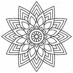Desenho de Mandala borboleta para Pintar e Colorir on-line