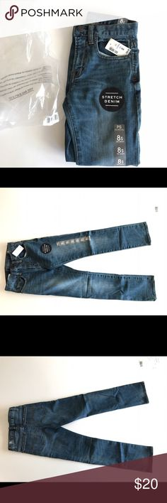 PS by Aéropostale boys denim pants size 8S Skinny NWT PS by Aéropostale boys stretch denim pants size 8S slim Skinny.  Paper tag says size 10 but stickers all say 8 slim and they fit like 8 slim. Aeropostale Bottoms Jeans