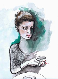 Inma&her drink by Svitlana Baydak, via Behance