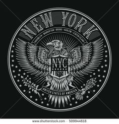 Eagles New York typography, t-shirt graphics, vectors