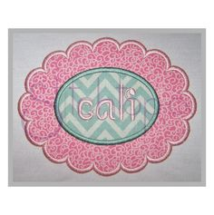 Scalloped Oval Applique Frame by StitchtopiaInc on Etsy