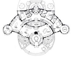 Some Sketch Designs for Sacred Geometry Homes - Creating a Life filled with Beauty and Truth Town House Floor Plan, House Plans, Concept Architecture, Sacred Architecture, Modern Architecture, Architectural Floor Plans, Sketch Design, Sacred Geometry, The Hobbit
