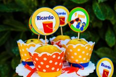 Cupcakes at a Beach Party #beach #party