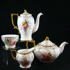 "Royal Crown Derby "" Vine "" Pattern Tea & Coffee Pot Creamer & Sugar   GBP£309.30"