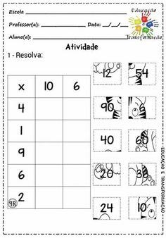 Multiplication Activities, Math Worksheets, Math Activities, 2nd Grade Math, Math Class, Math Sheets, Eureka Math, Montessori Math, Simple Math