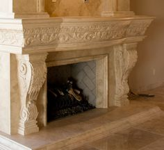 Exhaustive travertine carvings