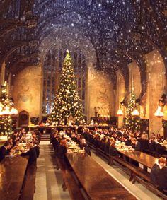 Want to celebrate the holiday season in a truly magical way, Harry Potter fans? Then how about a winter dinner in the Great Hall at Hogwarts. Harry Potter Tumblr, Décoration Harry Potter, Mundo Harry Potter, Harry Potter Lock Screen, Harry Potter Things, Harry Potter Marathon, Harry Potter Castle, Natal Do Harry Potter, Harry Potter Navidad