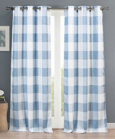 This Blue Checker Aaron Blackout 365 Curtain Panel - Set of Two is perfect! #zulilyfinds