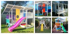 With so many different kinds of cubbies and forts to choose from, you'll be sure to find the perfect one for you family.  #MyCubby #Cubbies #ChristmasLayby #Christmas #PlayIdeas #Cubby #OutsidePlay #slide #AusWideDelivery #AussieKids #fun #play #happykids #Australia #Colourful