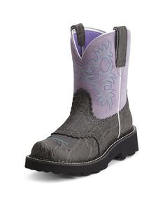 Ariat Women's Fatbaby Boot - Charcoal Elephant Print/Gray Violet  http://www.countryoutfitter.com/products/52141-womens-fatbaby-boot-charcoal-elephant-print-gray-violet