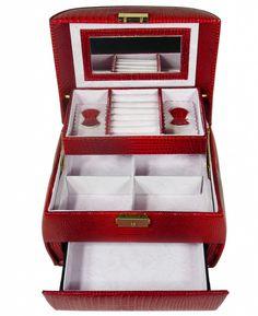 Šperkovnice zaoblená menší červená 5729 | Bižuterie Kozák Jewellery Box, Jewelry, Jewelry Box Store, Jewellery Making, Jewelery, Jewel Box, Jewlery, Jewels, Jewerly