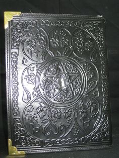 Fat Book of Shadow Leather Diary Journal Wicca  by GenuineGoods786, $99.75