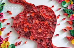 Original Paper Quilling Wall Art - Love Works Wonders. A love in a hot kind heart be able to melt a cold and ice in hearts people. Gift. This is
