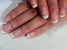 Brush up and Polish up!: CND Shellac Nail Art - French, French & more French!