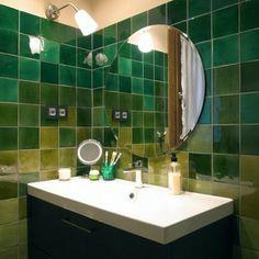Azulejos cristalinos verdes www.singularu.com