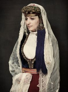 Armenian Wedding Culture Folk Costume Aunt Ethnic Dress Traditional Dresses Headdress Planets Peeps Typical Europe