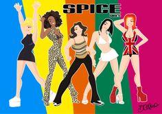 Spice Girls by Diego Celma http://www.facebook.com/diegocelmailustrador
