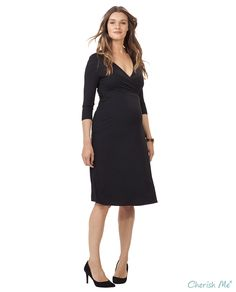 Isabella Oliver Neale Maternity Dress - Black