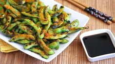 Grilled edamame sprinkled with Nanami Togarashi, a Japanese seasoning blend, makes for a deliciously easy snack.