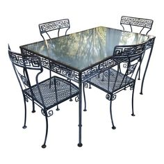Shop dining table & chair sets at Chairish, the design lover's marketplace for the best vintage and used furniture, decor and art. Table And Chair Sets, Dining Table Chairs, Dining Set, Table Furniture, Home Furniture, Outdoor Furniture, Cold Spring Harbor, Outdoor Tables, Outdoor Decor