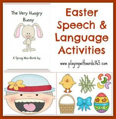 Playing with words 365: Speech and Language Activities for Easter! Pinned by SOS Inc. Resources. Follow all our boards at pinterest.com/sostherapy for therapy resources.