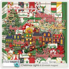 Digital Scrapbook Kit - Christmas Lights | Kristin Aagard