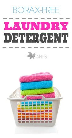 DIY Borax Free Laundry Detergent - This may help the little ones allergies to detergent.