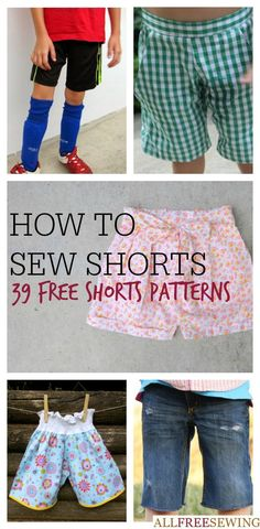 How to Sew Shorts: 40+ Free Shorts Patterns | AllFreeSewing.com