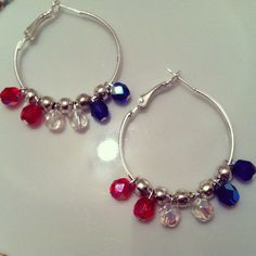 Happy 4th of July Earrings. I wanna get into making these foreal.