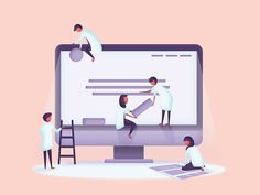 This is an illustration for an article of the Fabernovel Code agency. It is our job, that of designing attractive and intuitive user interfaces.